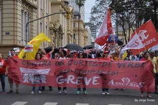Passeata deu apoio ao movimento dos servidores estaduais