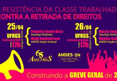 25 e 26/04 Aula Pública: A resistência da classe trabalhadora contra a retirada de direitos