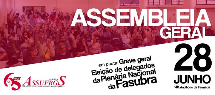 Assufrgs convoca para Assembleia Geral no dia 28 de junho